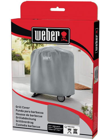 CUSTODIA IN VINILE PER BARBECUE WEBER SERIE Q 1000/2000 CON CARELLO/STAND